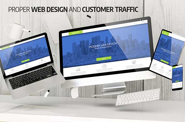 Proper web design and customer traffic